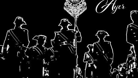Cartel del concierto del VI Aniversario de la Agrupación Musical de la Corfradía Santo Cristo de la Bienaventuranza, y presentación de su primer trabajo discográfico